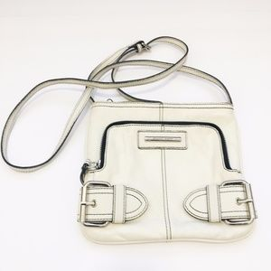 Franco Sarto White Crossbody Bag